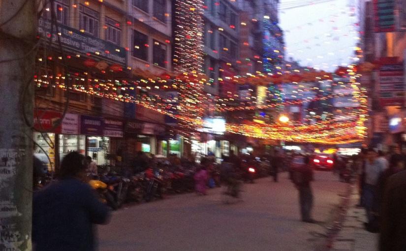 Festive Street scene, Basantapur, Kathmandu,Nepal